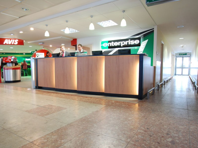 Gatwick Airport Reception Counter