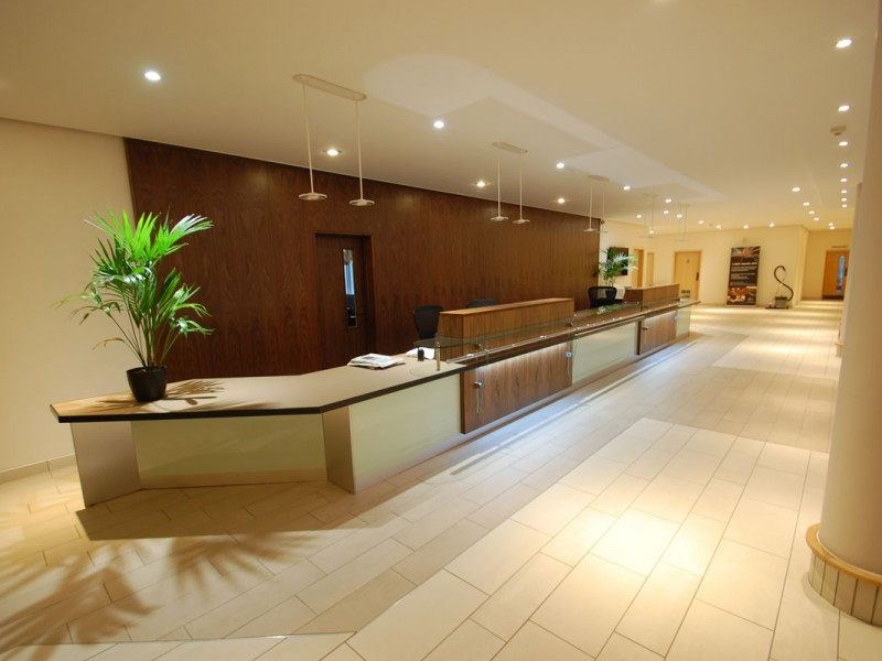 Scarman House Reception Counter