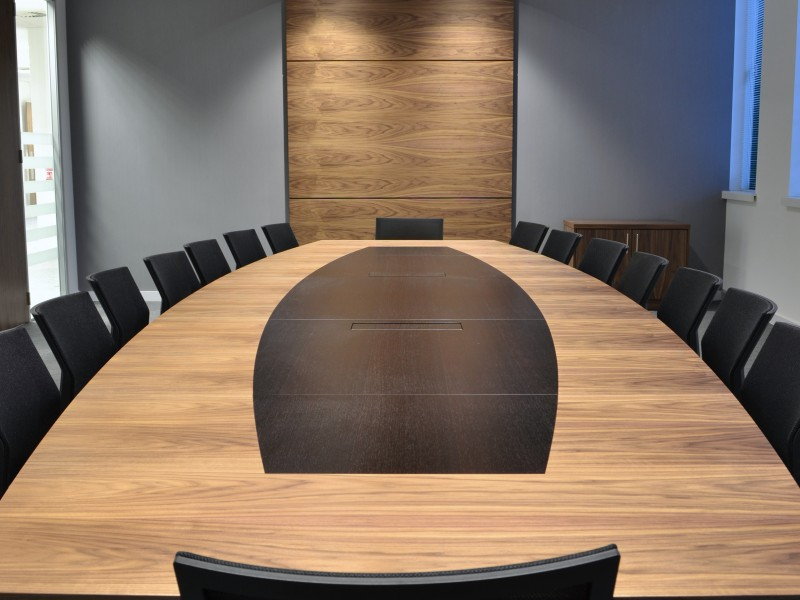 Bytes Software Boardroom Table oak veneer bespoke furniture