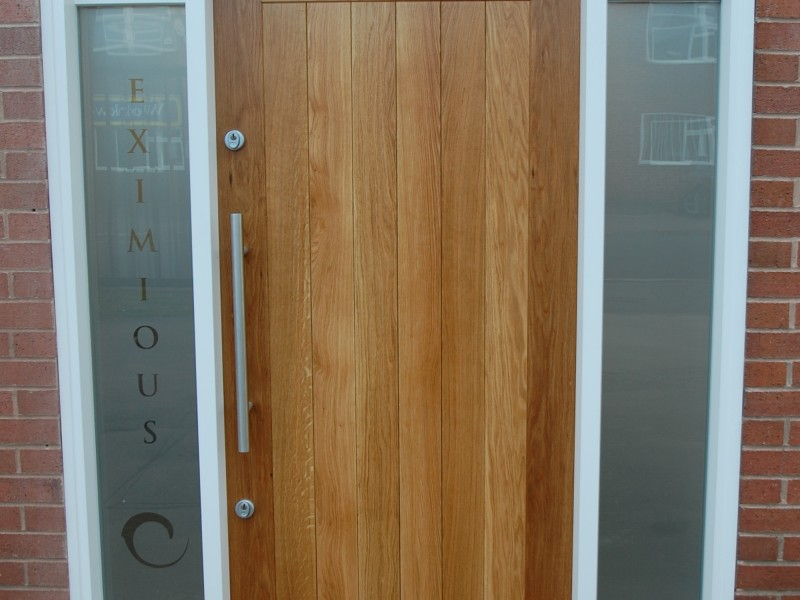 front door joinery oak