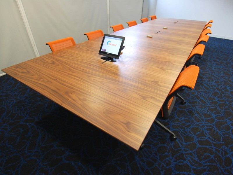 Akamai Boardroom Table walnut veneer bespoke furniture