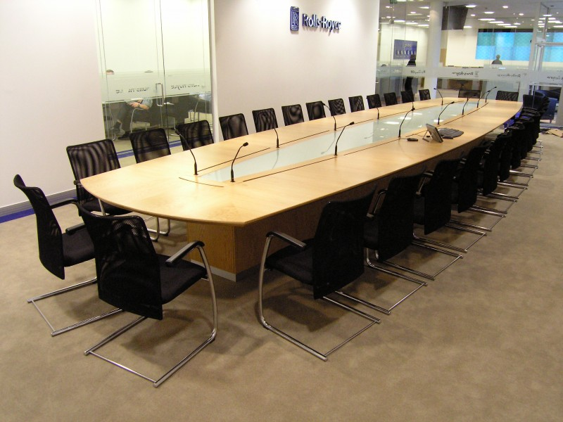 Rolls Royce Derby Boardroom Table oak veneer bespoke furniture