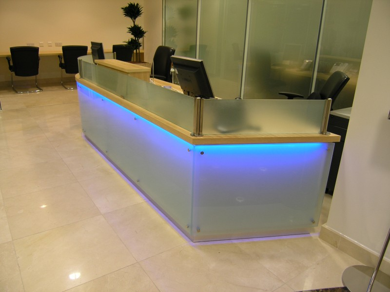Bank Of Cyprus bespoke reception counter