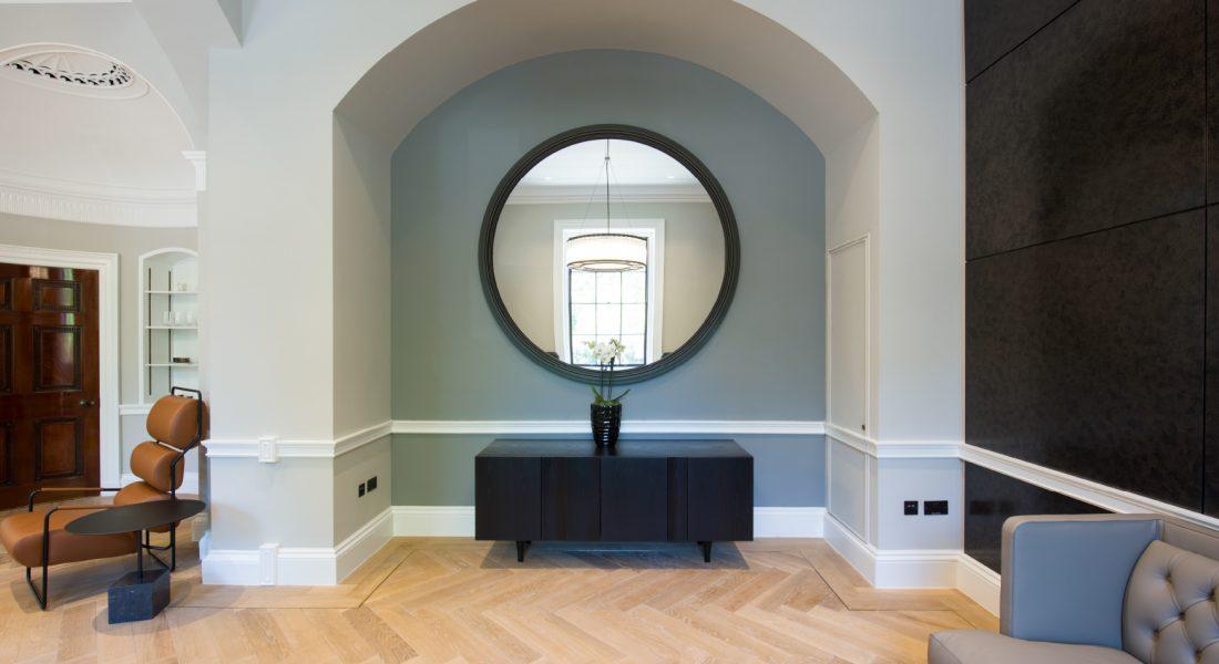 Credenza mirror wall